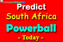 Predictions Powerball South Africa today 12-08-2019